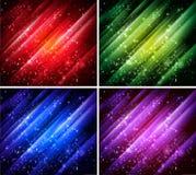 Collection colorée abstraite de milieux Photos stock