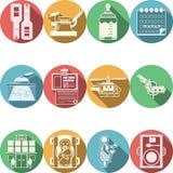 Collection colorée d'icônes pour la gynécologie Photographie stock