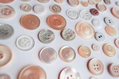 Collection colorée de bouton sur le fond blanc Photos libres de droits