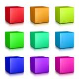 Collection colorée de cubes Images stock