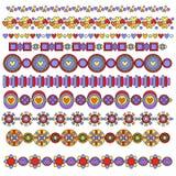 Collection colorée de garniture ou de cadre Images libres de droits