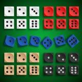 Collection colorée jouer le calibre de conception de matrices Image libre de droits