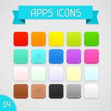 Collection of color apps icons. Set 4 Stock Photo