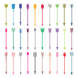 Collection of Color Arrows Royalty Free Stock Image