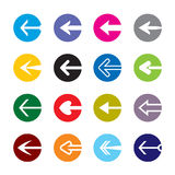 Set of color arrows. Icon Stock Vector. Collection of color arrows. Icon Stock Vector Stock Images