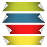 Collection of color blank paper ribbons Royalty Free Stock Photography