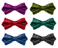 Collection of color bow tie. Royalty Free Stock Image
