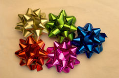 Collection of color bows with ribbons Royalty Free Stock Photography