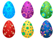 Collection of  color Easter eggs Stock Photography