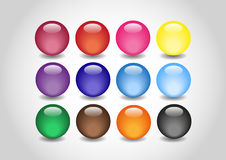 Collection color Glossy Ball Royalty Free Stock Images
