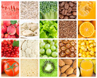 Collection with color healthy food Royalty Free Stock Photos