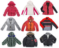 Collection of color jacket Stock Image