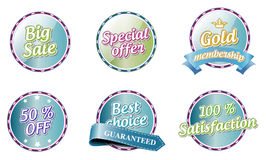 Collection of  color labels Stock Images