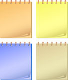Collection color notepads. Royalty Free Stock Photos