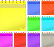 Collection color notepads Royalty Free Stock Photos