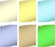 Collection color paper. Stock Photos