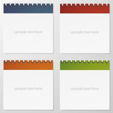 Collection of 4 color paper note. . Royalty Free Stock Photography