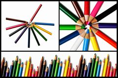 Collection of color pencil Royalty Free Stock Image