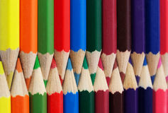 Collection of color pencils Stock Image