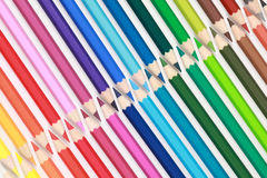 Collection of color pencils Royalty Free Stock Image