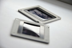 Collection of color positive slides Royalty Free Stock Image