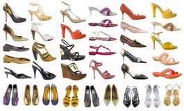 Collection color shoes Royalty Free Stock Photo