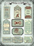 Collection of  color vintage labels for design. Victorian style Royalty Free Stock Images