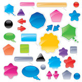 Collection of color web elements Royalty Free Stock Image