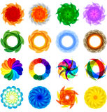 Collection of colored 2D elements Royalty Free Stock Image