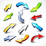 Collection of colored arrows Royalty Free Stock Images