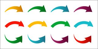 Collection of colored arrows. New bright gradient arrows for you vector illustration