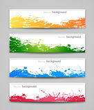 Set of colored backgrounds Royalty Free Stock Image