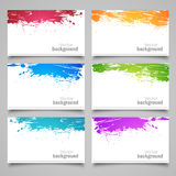 Set of colored cards. Collection of colored backgrounds on a gray background. Vector Stock Images