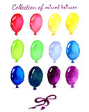 Collection of colored balloons painted live Royalty Free Stock Photos