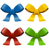 Collection of colored bows Royalty Free Stock Images