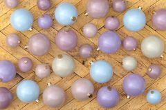 Collection of colored Christmas baubles royalty free stock photos