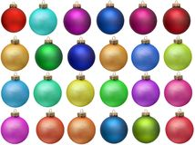 Collection of colored christmas ornament Royalty Free Stock Photos