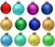 Collection of colored christmas ornament . Stock Image