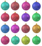 Collection of colored christmas ornament . Stock Photography