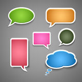 Collection colored dialog bubbles template Stock Photography