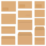 Collection of colored envelopes Royalty Free Stock Images