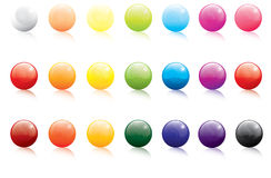 Collection of colored gel filled icon buttons Royalty Free Stock Images