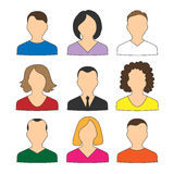 Collection of colored icons avatars people for web Royalty Free Stock Image