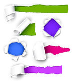 Collection of colored paper. Royalty Free Stock Photos