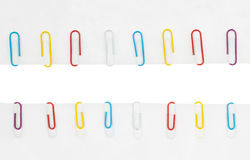 Collection of colored paper clips Royalty Free Stock Image