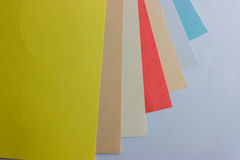 Collection of colored paper. Royalty Free Stock Image