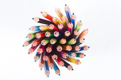 Collection of colored pencils Royalty Free Stock Image