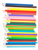 Collection of colored pencils Royalty Free Stock Photo