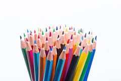 Collection of colored pencils Stock Images