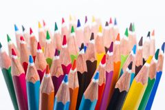 Collection of colored pencils Stock Photos